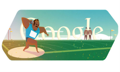 Google Doodles London 2012 Shot Put