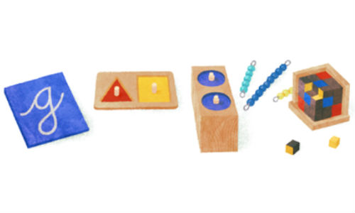 Google Doodle Celebrates Maria Montessori's 142nd Birthday