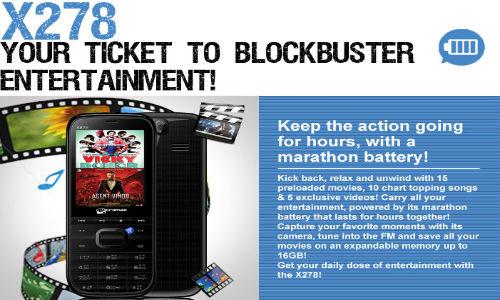 Micromax X278: Dual-SIM Phone With 1,800mAh Li-ion Battery For Rs 2,000