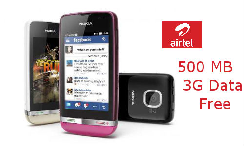 Nokia Asha Data Plan: Airtel offers 500 MB 3G Data Free for 3 Months