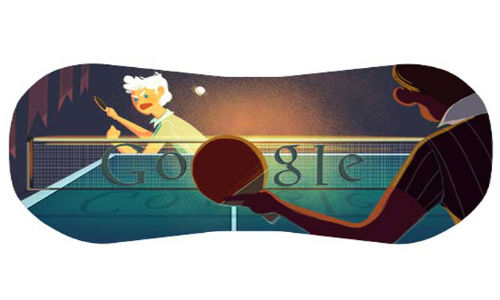 Google Doodles London Olympics 2012 table tennis
