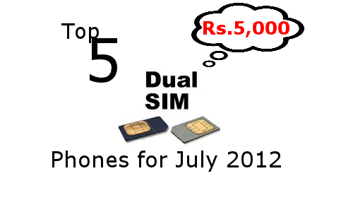 Top 5 Dual SIM Phones launched in July under Rs 5,000 Tag