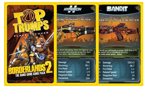 Borderlands 2 Top Trumps Limited Edition Hits Indie Stores for Pre Order