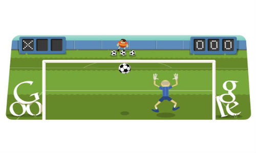 Google Doodles London 2012 Football: How many Penalty Shots did You Defend? [Video]