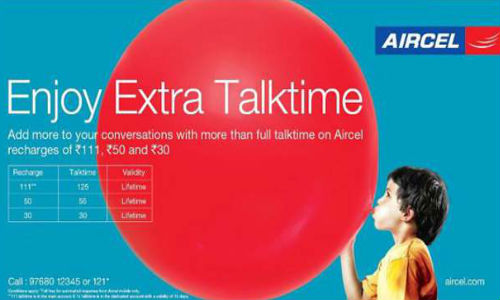 Aircel Full Talk Time Prepaid Offer Available at Rs 30, Rs 50, Rs 62, Rs 75