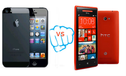 Apple iPhone 5 vs HTC 8X: iOS 6 And WP8 Face Off