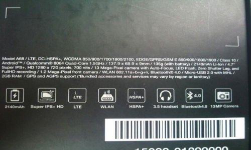 Asus PadFone 2 Specs Leak Reveals Android ICS, 4.7-Inch Display and More