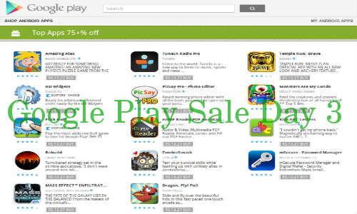Google Play Sale Day 3: 14 Apps on Sale for Only Rs 13.27