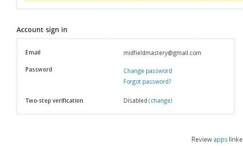 How to enable the two step verification process in Dropbox?