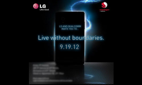 Optimus G: LG And Qualcomm September 19 Event Invite Hints At Launch of Next-Gen Phone