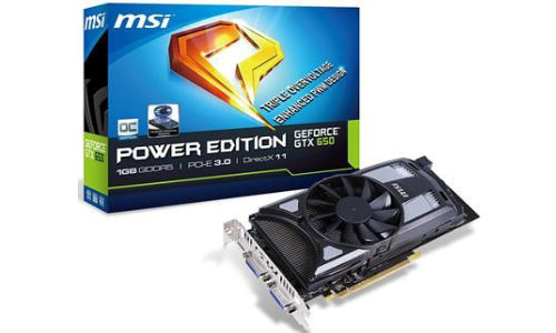 MSI launches GTX 650 Power Edition Graphics Card with Double Airflow