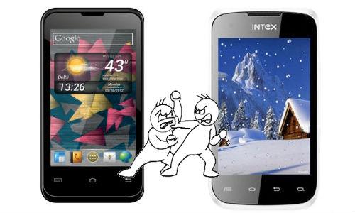 Micromax A87 Superfone Ninja 4 Vs Intex Aqua 4.0: Low-Cost Dual Sim Android Smartphone Supremacy