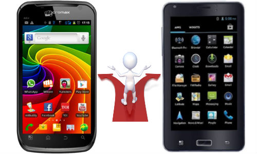 Micromax Canvas A100 vs iBall Andi 5c: Low Cost Phablet Shootout in India