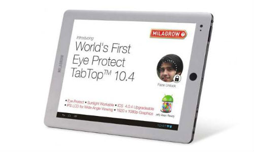 Milagrow TapTop 10.4: Android ICS Tablet Priced @ Rs 22,990