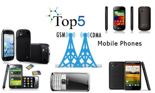 Top 5 Latest GSM And CDMA Mobile Phones Available in India