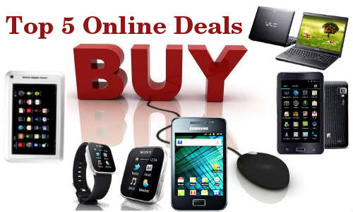 Weekend Guide: Top 5 Online Deals on Smartphones, Tablets, Laptops and More