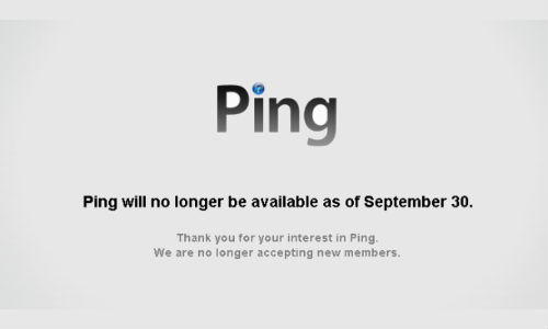 Ping to Retire on September 30, Apple Stops Accepting New Members