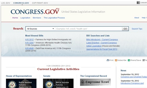 US Congress unveils New Beta Legislative Search Engine