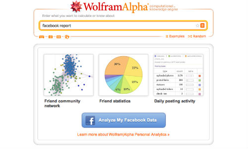 Facebook: Wolfram Alpha Lets Users to Analyze Personal Data on the Social Network