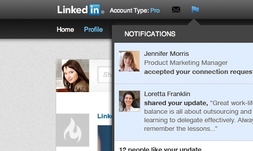 LinkedIn App for Mobile Get New Notification Features