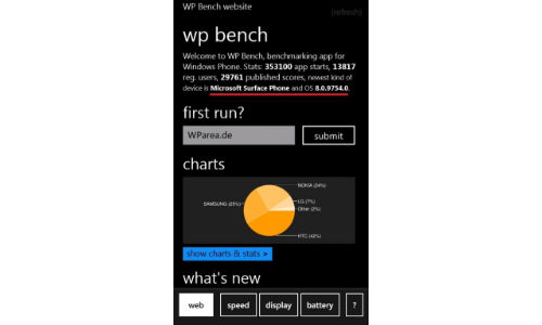 Microsoft Surface Phone Caught in Benchmark App.. Really?