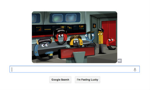 Google Doodle Celebrates 46th Anniversary of Star Trek