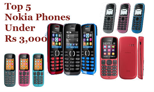 Top 5 Best Selling Nokia Feature Phones Under Rs 3,000 Price Tag