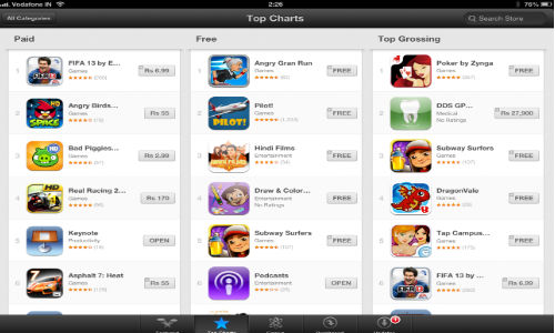 Apple App Store: Paid Apps in India Gets INR Pricing