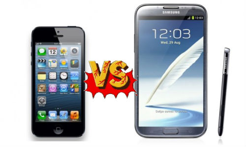 Apple iPhone 5 vs Samsung Galaxy Note 2: Which Is Your Choice?