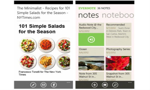Evernote 2.5: Windows Phone App Updated with New Layout and Features
