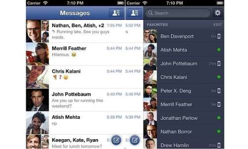 Facebook Messenger v2.0 for iOS released