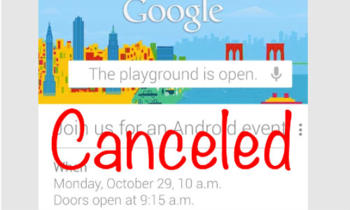 Google Android Event Cancelled: Hurricane Sandy Favors Microsoft, Leaves Google in Disguise