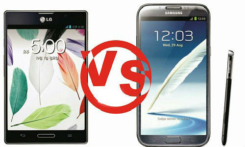 Samsung Galaxy Note 2 vs LG Optimus Vu: Fight for The Best Android Phablet Crown