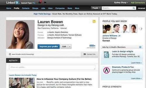 LinkedIn Introduces New Profile Page Design for Professionals