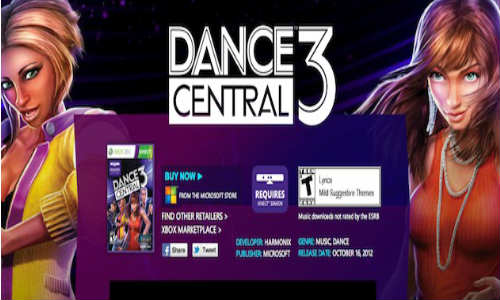 Microsoft Kinect Dance Central 3 Released on Xbox 360 in India at Rs 2499
