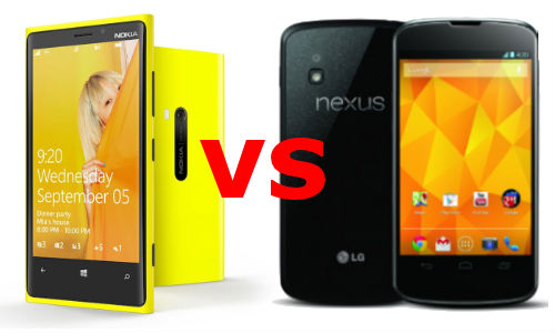 Nokia Lumia 920 vs LG Nexus 4: The Two Heavyweight OS Smartphones are Here