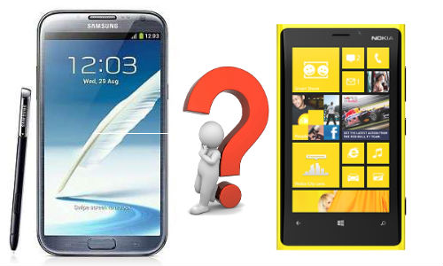 Samsung Galaxy Note 2 vs Nokia Lumia 920: Shootout of the Biggies for OS Crown