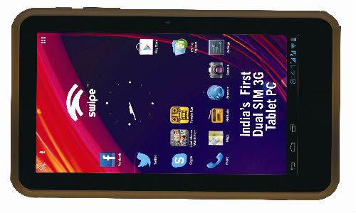 Swipe Tab All in One: First Dual SIM 3G Android ICS Tablet Launched at Rs 11,999