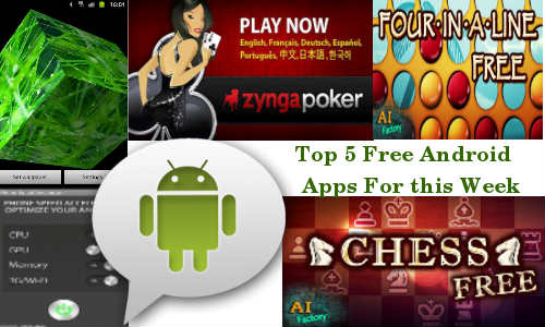Top 5 Free Android Apps For this Week