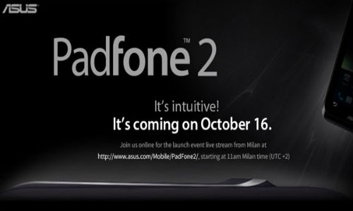 PadFone 2 October 16 Event: Watch Live Streaming of Next-Gen Hybrid Device on YouTube