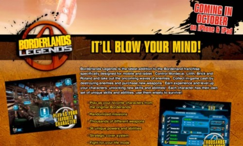Borderlands Legends to Reach Apple iPad and iPhone This Month