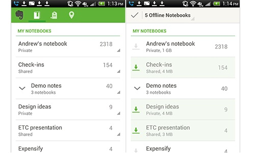 Evernote for Android Updated with Offline Notebooks, New Widgets and More