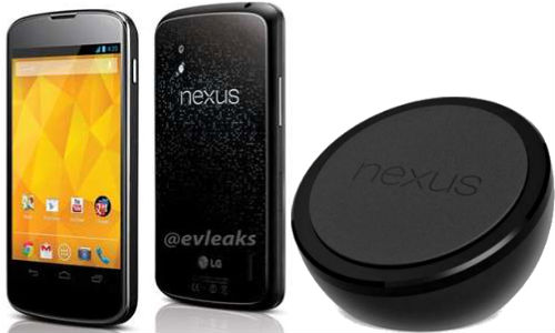 LG Nexus 4: Futuristic Wireless Charging Pad and Official Press Shot of the Smartphone Leaked Online