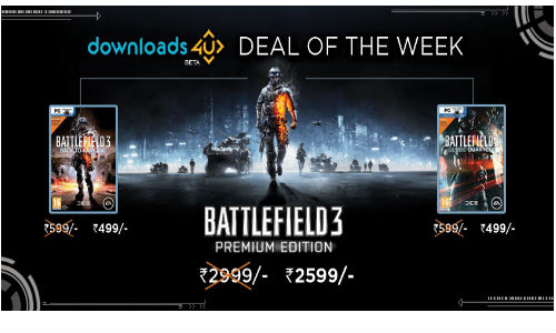 Battlefield 3 Premium Edition Now Available at Game4u for Rs 2,599