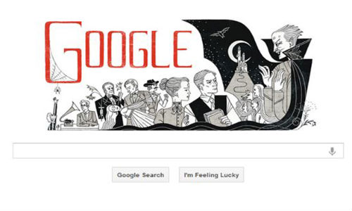 Google Posts a Dracula Doodle on Bram Stoker 165th Birthday
