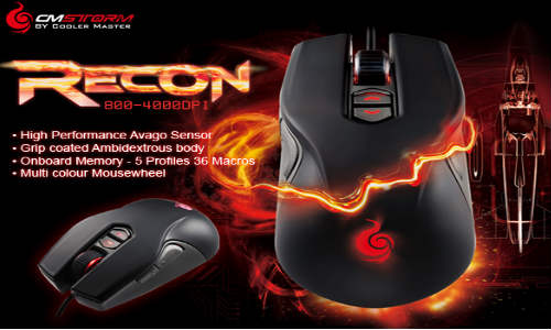 Cooler Master CM Storm Recon Gaming Mouse Now Available in India at Rs 3,999