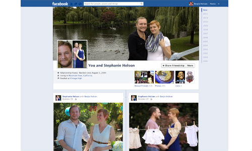 Facebook Friendship Pages Converted To Timeline with Enhanced Features