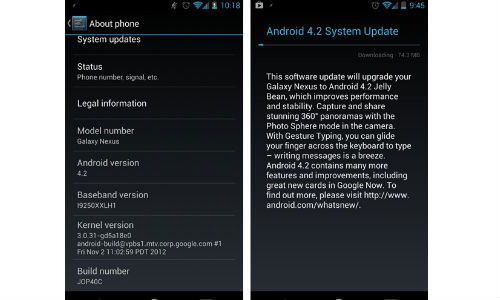 Google Starts Android 4.2 Roll Out to Selected Nexus Devices