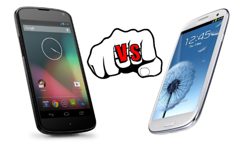 LG Nexus 4 vs Samsung Galaxy S3: Lord of the Android Smartphones Fight for Ruling the Kingdom