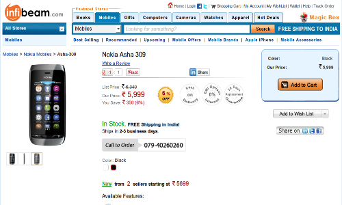 Nokia Asha 309 Available Online at Rs 5,999: Top 5 Android Challengers in Indian Smartphone Market